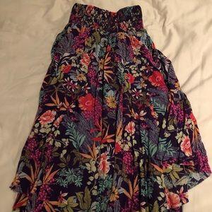 Free people floral midi skirt